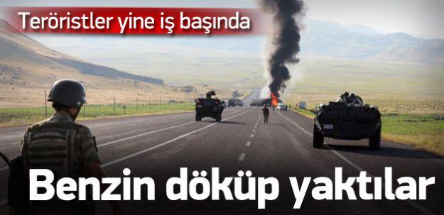 BÖLGE HALKI KORKU İÇİNDE! PKK Beton Mikserini Yaktı!