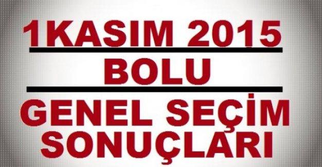 1 Kasım Bolu Milletvekili Seçim Sonuçları-DETAYLI LİSTE