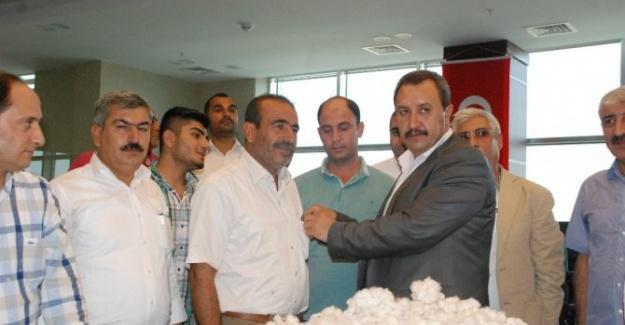 Şanlıurfa'da Yılın İlk Pamuk Satışları Gerçekleştirildi