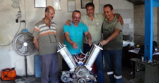 Dört Kafadar Arkadaş Kendi Elektriğiyle Çalışan Motor Yaptı