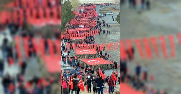 Aziziye Tabyaları'na Yürümek İçin 20 Bin Erzurumlu Toplandı