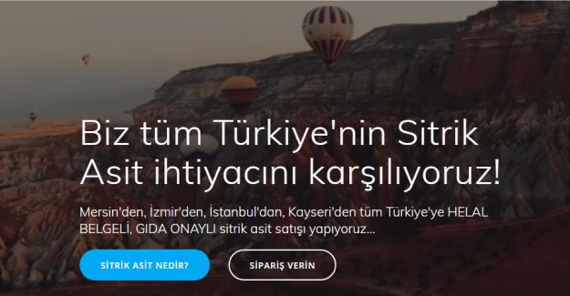 Türkiye Sitrik Asiti Buradan Alıyor