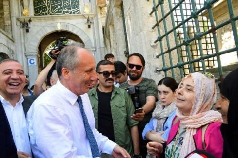 Eyüp Sultan'ı Ziyaret Eden Muharrem İnce'ye Büyük Şok!