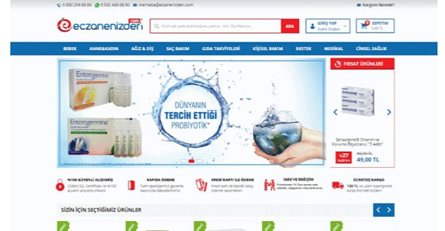 İhtiyacınız Olan Gıda Takviyeleri Eczanenizden.com'da