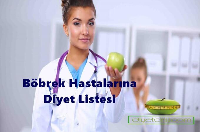 Böbrek Hastalarına Özel Diyet Listesi