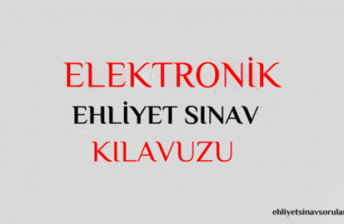 Elektronik Ehliyet Sınavı Soruları 2019