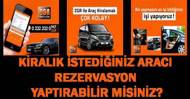 İzmir Şoförlü Araç Kiralama İçin Zgr