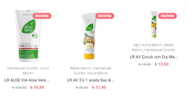 Aloe Vera Ürün Satışı