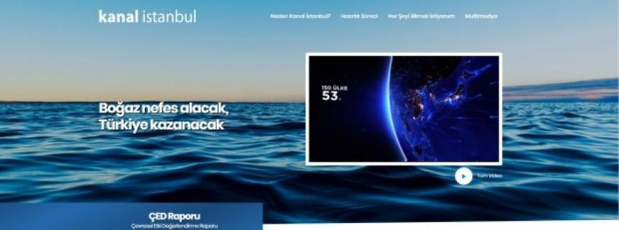 Kanal İstanbul'un internet sitesi yayında!