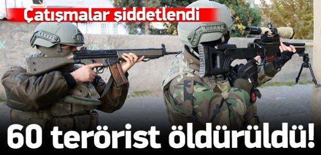 60 Pkk'lı Terörist Öldürüldü!
