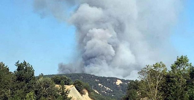 Bolu'da büyük yangın sonucu mahalle boşaltıldı