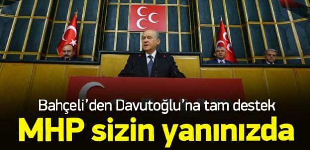 Bahçeli'den Başbakan Davutoğlu'na Tam Destek! Yanındayız!