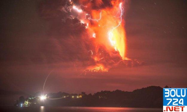 Calbuco Yanardağı 43 Yıl Sonra Faliyete Geçti.