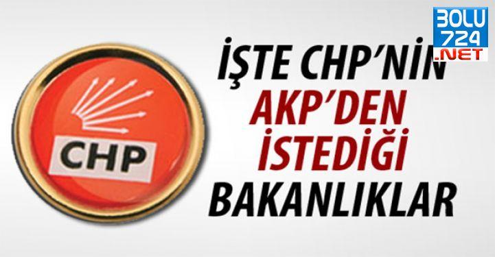 CHP AK Parti'den O Bakanlıkları İstiyor!