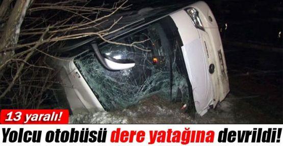 Eskişehir'de Fecii Kaza: 13 Kişi Yaralandı,Ekipler Derede Yaralı Arıyor!!