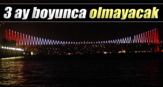 BOĞAZİÇİ Köprüdeki Aydınlatma Sistemi 3 Ay Olmayacak..