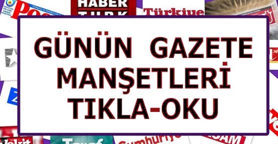 Gazete Manşetleri 26 Aralık Cuma (GAZETE OKU)