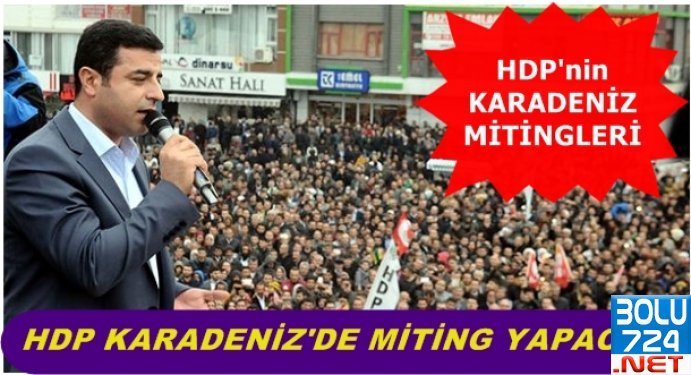 HDP Karadeniz'de Miting Yapacak! İşte Miting Tarihleri