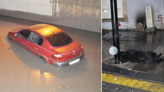 İzmir'de Tehlikeli Gece! Yağış Nedeniyle Alt Geçidi Sular!