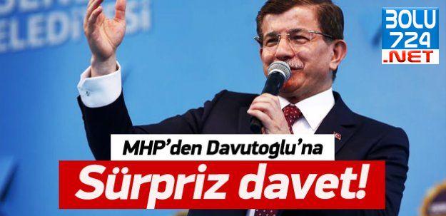 MHP'den Davutoğlu'na Sürpriz Davet