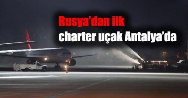 Rusya'dan İlk Charter Geldi