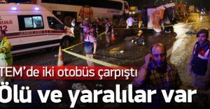 Bolu Dağı Çıkışında İki Yolcu Otobüsü Çarpıştı Çok Sayıda Ölü Var!