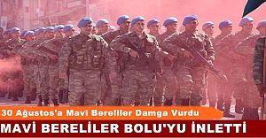 Bolu'dan Düşmana Gözdağı! Mavi Bere'liler Adeta İnletti