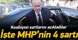 İşte MHP'nin Koalisyon İçin 4 Şartı! 1-Cumhurbaşkanı Erdoğan...!