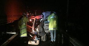 Bolu'da Trafik Kazası! 1 Ölü 3 Yaralı