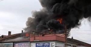 Çorum Sanayi Sitesindeki Yangına Erken Müdahale