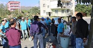 Germencik Çalışanları Fazla Mesai Yaparak Sokakları Temizliyor