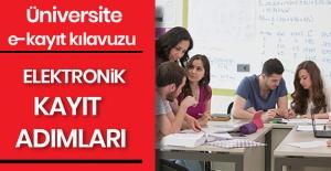 ÜNİVERSİTELERE E-KAYIT İŞLEMİ İLE...