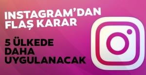 """Instagram 5 ülkede daha """"beğeni"""" rakamlarını kaldırıyor"""
