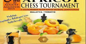 3.Uluslararası Altın Kayısı Satranç Turnuvası  Malatya'da yapılacak.