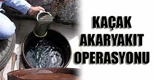 BOLU'da Kaçak Akaryakıt Operasyonu