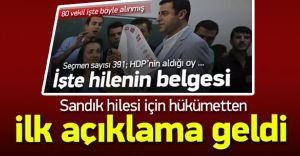 Hükümetten HDP'nin Seçim Sandık Tulum Oyları Hakkında Açıklama Geldi!