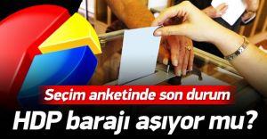 İşte Son Seçim Anketi! HDP Barajı Geçiyor mu?
