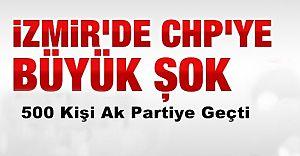 İzmir'de CHP'ye ŞOK! 500Kişi İstifa Edip AK Partiye Geçti