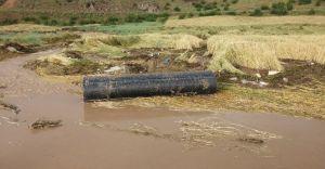 Laçin'de Sağanak Yağış Çeltik Arazilerini Vurdu! Sel Oluştu!