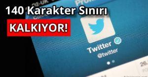 Twitter'ın Kısıtlaması 140 Karakter Artık Olmayacak!