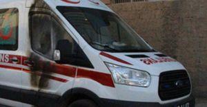PKK Yol Kesip Ambulans Yaktı