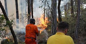 Yangın O İlçemizi Yutmak Üzere! Bölge Halkı Diken Üstünde