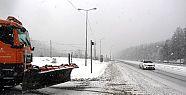 Bolu Dağı'nda Kar Ulaşıma Engel Oldu