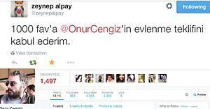 Çılgın Aşık, Sevgilisi Zeynep Alpay'a Twitter'dan Evlenme Teklif Etti