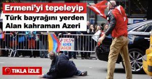 Ermeni'nin Elinden TÜRK Bayrağını Alıp Tekmeledi!