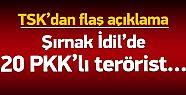 PKK'ya Şok Darbe! İdil'de 20 Terörist...