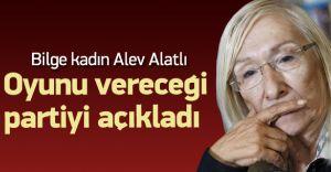 Ünlü Yazar Alev Alatlı Oyunu Vereceği Partiyi Açıkladı