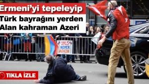Türk Bayrağına Saldırdı Dayak Yedi