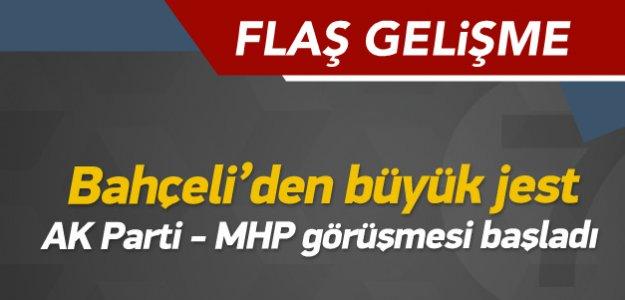 Başbakan, MHP'nin Kapısını Çaldı Bahçeliden Büyük JEST!