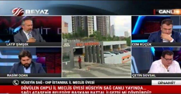 CHP'li Üye Ataşehir Bld Başkanından Dayak Yiyip Soluğu Beyaz Tv'de Aldı!